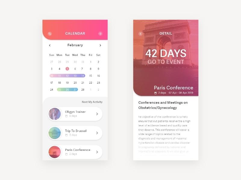 Calendar - DailyUI uidesigner ux appdesign design dailyui