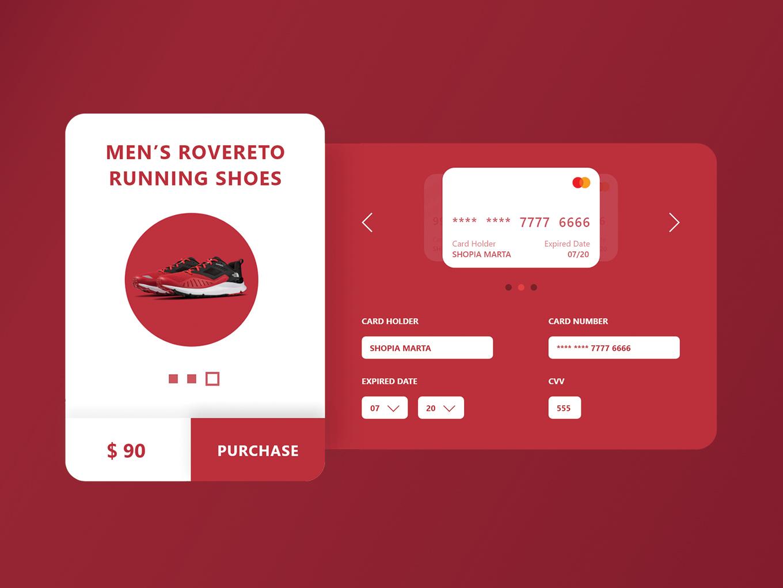 Credit Card Checkout header design web ux uidesigner dailyui ui design