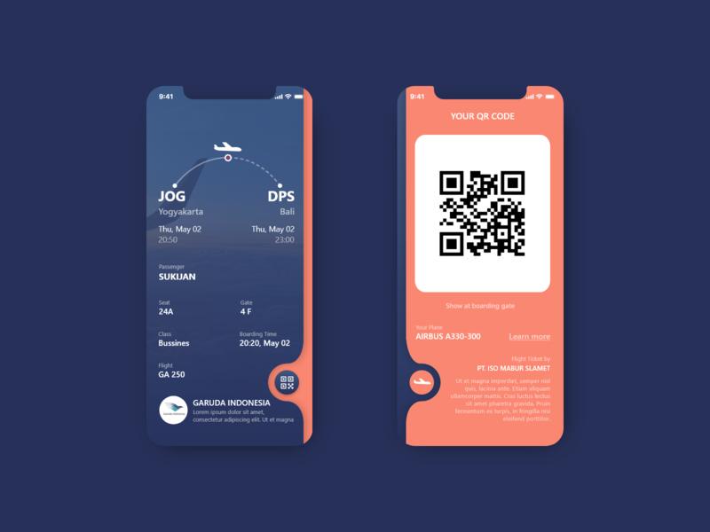 Boarding Pass web app appdesign ux uidesigner dailyui ui design