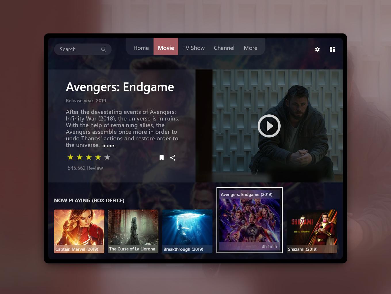 Smart TV App in Ipad by Afrianska on Dribbble
