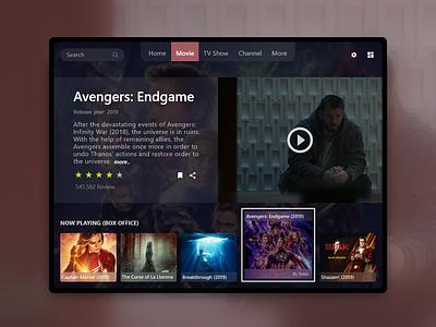 Smart TV App in Ipad web app appdesign ux uidesigner dailyui ui design