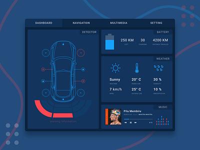 Car Interface website flat header design web app appdesign ux uidesigner dailyui ui design