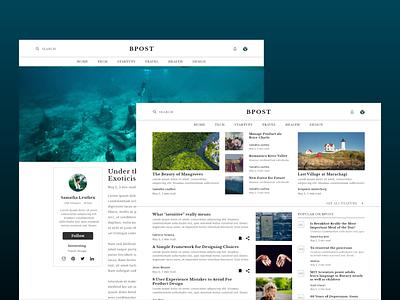 Blog Post typography header design web app appdesign ux uidesigner dailyui ui design