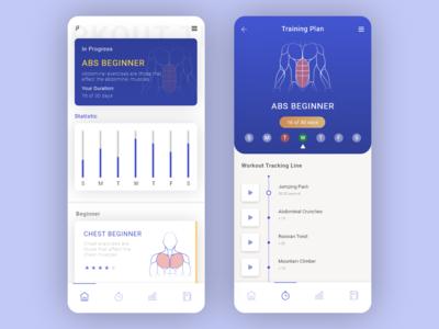 Daily UI Challenge 041 Workout Tracker web app appdesign ux uidesigner dailyui ui design
