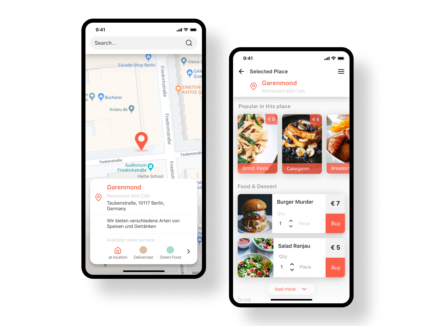 Daily UI Challenge 043 Food/Drink Menu app appdesign ux ui uidesigner dailyui design