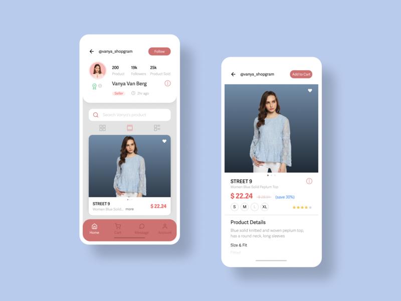 Cartegram Social Market app appdesign uidesigner ux ui dailyui design