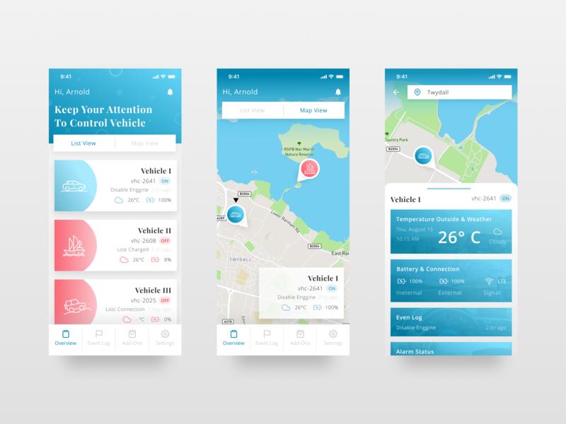Tracking App map app design