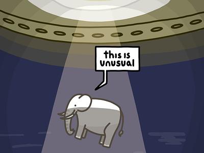 Friendly elephant procreate illustration comic 2d