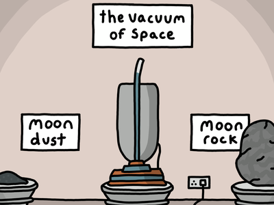 Space vacuum procreate illustration comic 2d