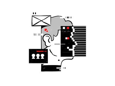 User graphic design icon user branding ui stroke design character line flat illustration vector