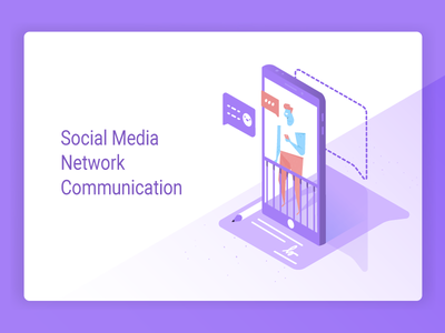 Social Media  Network  Communication communication network media social vector isometric iso flat emotions conversation chat character