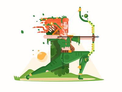 Windranger windranger videogame vector steam moba game flat falt dota2 dota art