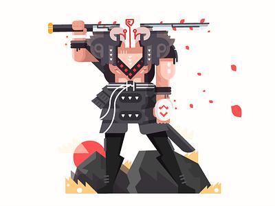 Juggernaut art dota dota2 falt flat game moba steam vector videogame juggernaut