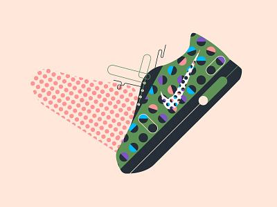 Nike web vector ui texture simple nike illustration icon design character art airmax
