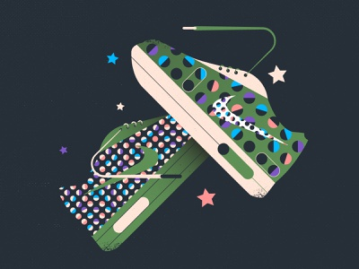 Sneakers: Nike sneakers nike brand branding art stroke design line illustration flat vector