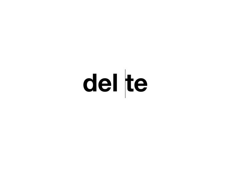 Typography: delete web ux typography ui branding design illustration vector typogaphy delete icon logo