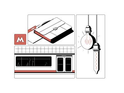Work light laspa work folder metro clown character illustration flat vector