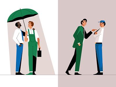 Characters businessman stroke design line character illustration flat vector