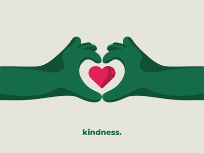 Kindness visual instagram agency values green kindness drawing colors illustrator illustration art flat illustration visual art design vector hands coworkers coworking series