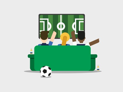 WORLD CUP worldcup living room tv football characters illustrator drawing colors art illustration art flat design vector illustration
