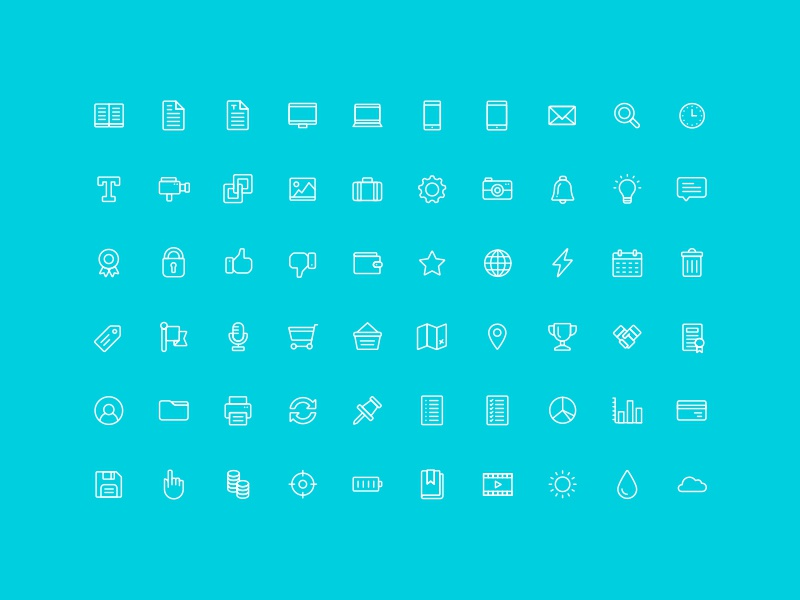 The Nice and Serious UI Icon Set icon flat ui ux vector free download ai layout dashboard icon set