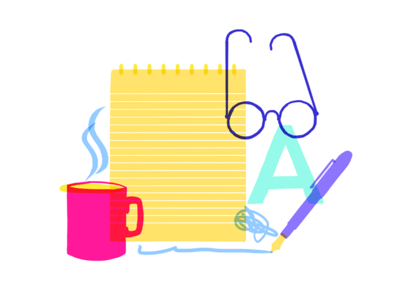 Our Process  typography glasses pen writing coffee tea film word script type motion animation