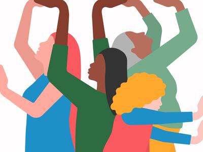 International Women's Day 2018 press gender vector design progress power flat illustration girl character women