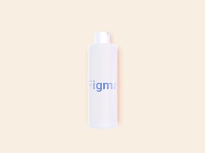 Lotion  Bottle in Figma 2021 fake 3d 3d glass bottle figmadesign figma