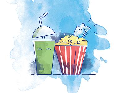 Food Illustrations new style art ad movies food illustrations 2d
