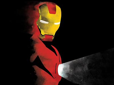 Iron Man  illustrations art photoshop poster iron man