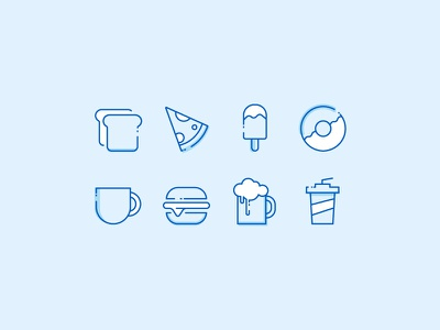 Food Icons Exploration new style icon food icons food new 2018 icon exploration icons