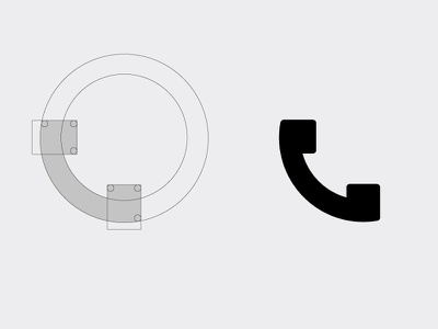 Call Icon vector illustration flat grid making process iconography 2018 icon call