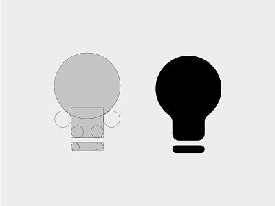 Light Bulb Icon process. trending 2018 flat vector icon light bulb