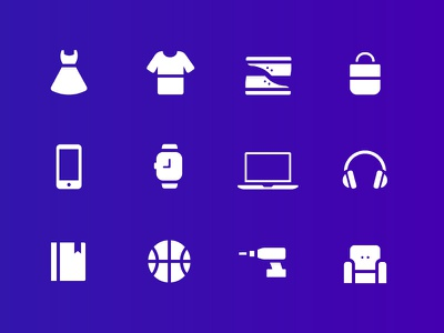Shopping Category Icons vector symbol ui 2018 icons shopping