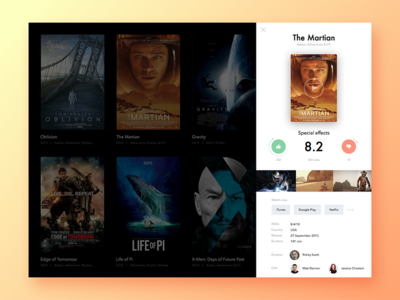 Movie interface info score film rating web ui movie