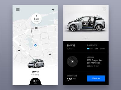 Carsharing App search rental car map app carsharing