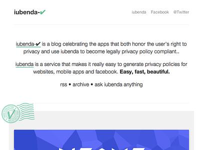 Iubenda CHECK privacy policy legal blog iubenda mobile