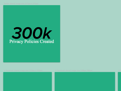 Social Media Sharing Blueprint privacy policy social media twitter facebook google linkedin iubenda