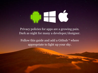 Minisite - Privacy Policy for Apps privacy policy apps android ios windows phone
