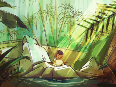 Nubian Musician - Sketch nature musical instrument oud art character design illustration nuba aswan egypt