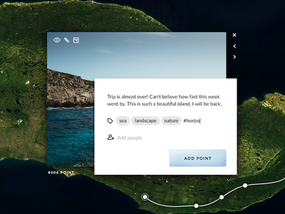 Daily UI challenge #016 — Pop-Up / Overlay overlay pop-up popup navigation map challenge card ui dailyui daily app