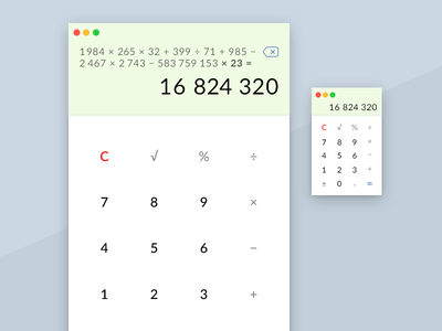 Daily UI challenge #004 — Calculator calc calculator challenge card ui dailyui daily app