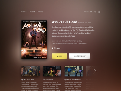 Daily UI challenge #025 — TV App movie tvapp tv challenge card ui dailyui daily app
