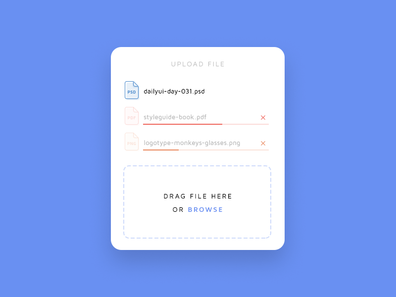 Daily UI challenge #031 — File Upload