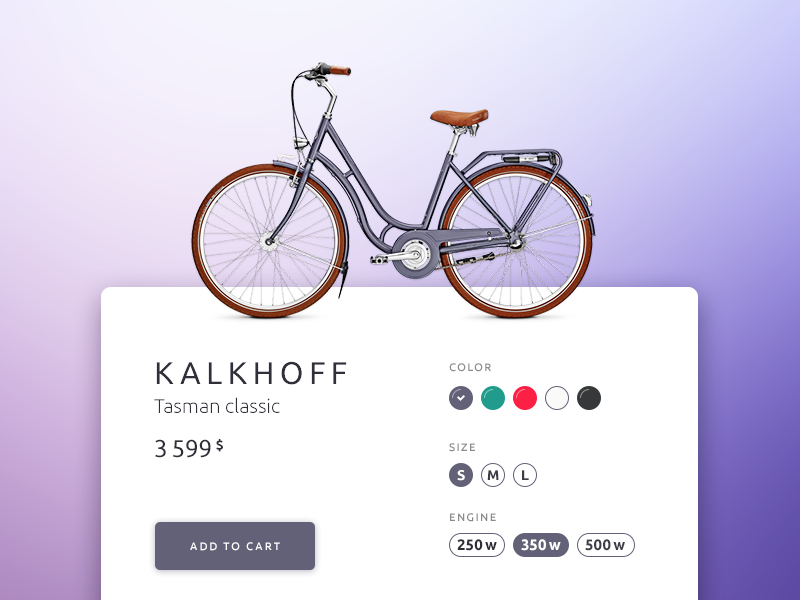 Daily UI challenge #033 — Customize Product e-commerce ecommerce shop product challenge card ui dailyui daily app