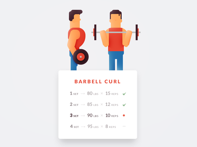 Daily UI challenge #041 — Workout Tracker muscle biceps tracker workout challenge card ui dailyui daily app