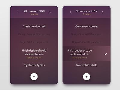 Daily UI challenge #042 — ToDo List todo list task todo challenge card ui dailyui daily app