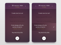 Daily UI challenge #042 — ToDo List todo list task todo challenge card ui dailyui daily app