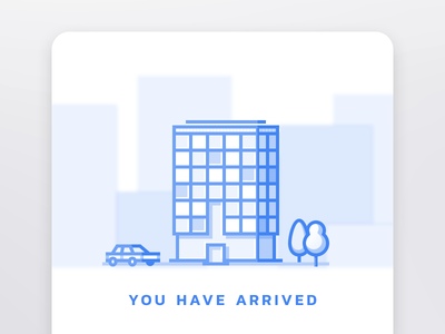 Taxi last screen arrive car illustration taxi ui card buiding app