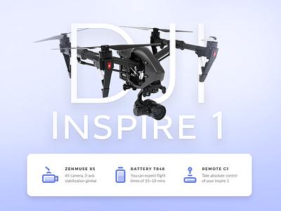 Daily UI challenge #045 — Info Card dji info drone copter dailyui daily challenge ui card app